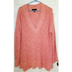 Lane Bryant V-Neck Tunic Sweater with side slits